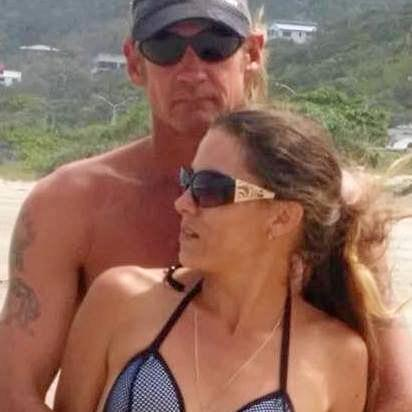 MISSING MAN: Robert Carroll pictured with his partner Christie Hoffmann.