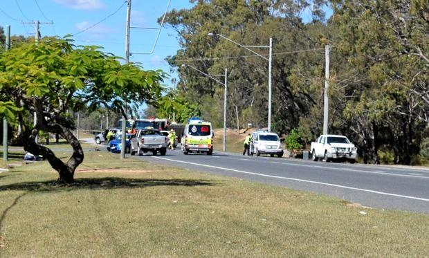 A Gladstone woman distracted by ducks was the cause behind a three-vehicle traffic crash along Glenlyon St.