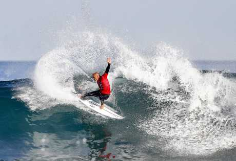 Kelly Slater in action during the Rip Curl Pro at Bells Beach earlier this year.