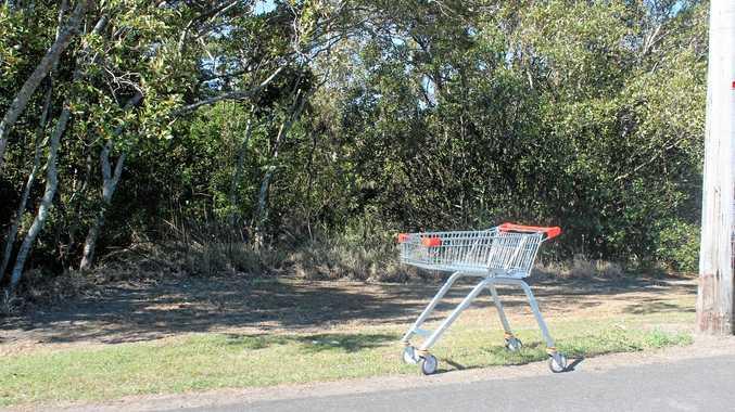 SHOPPING trolleys around Ballina Island last Wednesday afternoon.