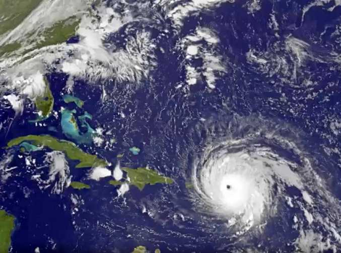 Hurricane Irma tracks over Saint Martin and the Leeward Islands, along a path towards Puerto Rico, Cuba and Hispaniola and a possible direct hit on densely populated South Florida.