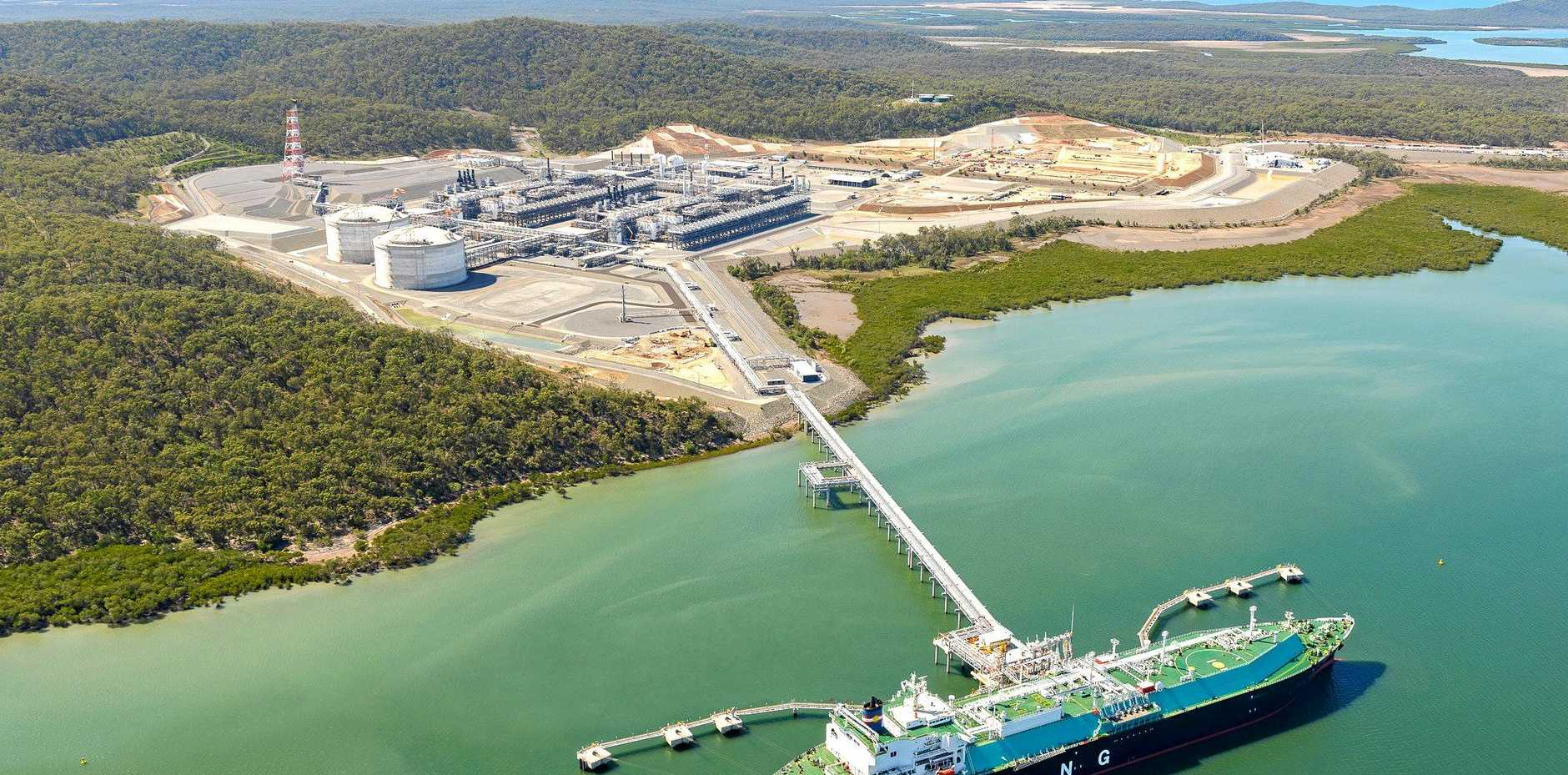 DOMESTIC BOOST: Santos' GLNG project at Curtis Island.