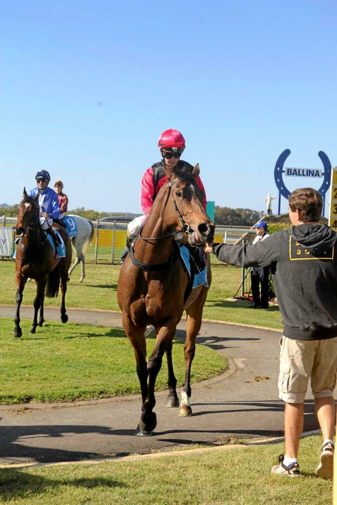 Kirk Matheson rode I'm a Jet to a win in the $30,000 Benchmark 70 showcase handicap (1100m) at the Ballina Jockey Club.