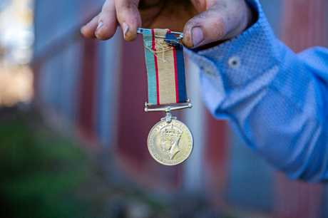 Colin 'Teddy' Waters' Australia service medal.