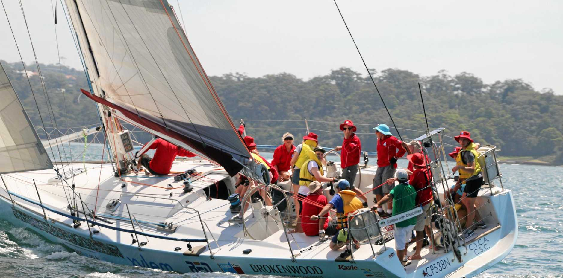 SETTING SAIL: Charity Sailors with disABILITIES has docked in Coffs, giving children with disabilities a chance to sail the 54-foot racing yacht Kayle.