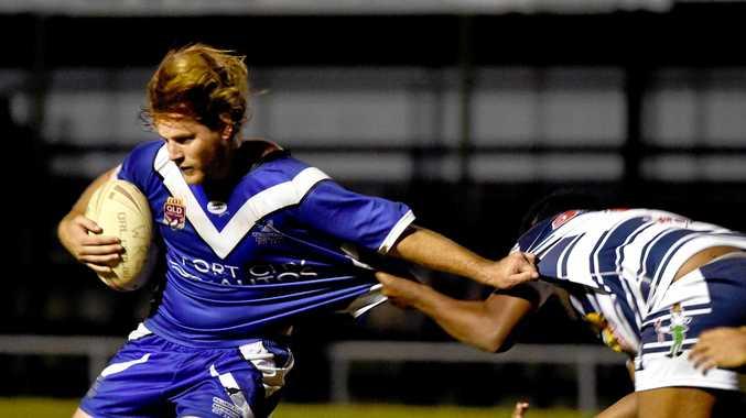 Rugby League, Maryborough - A grade.  Maryborough Brothers versus Wallaroos - David Ball.