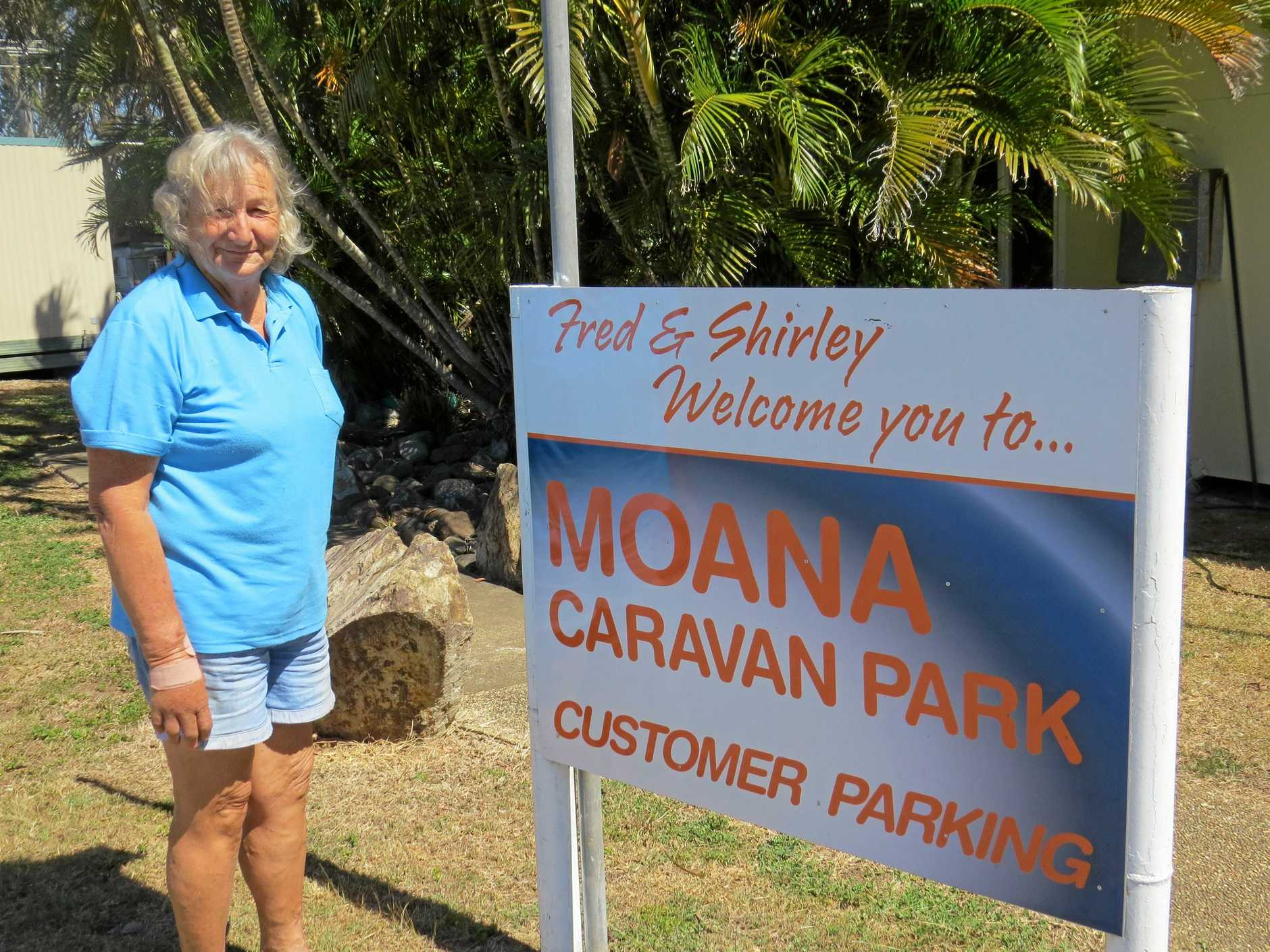 STOP THE ILLEGALS: Shirley Stephens of Moana Caravan Park.