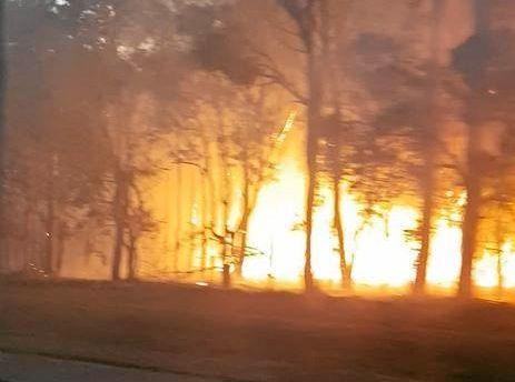 Fire at Branyan, September 7, 2017.