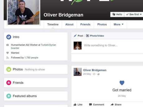 Screenshots taken from Bridgeman's Facebook account in May suggest the Toowoomba man had married in May of this year. Shortly before deactivating his account.