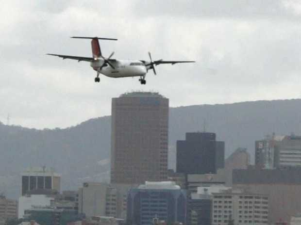A QantasLink Bombardier Dash 8 turboprop aircraft, similar to the one involved the incident.