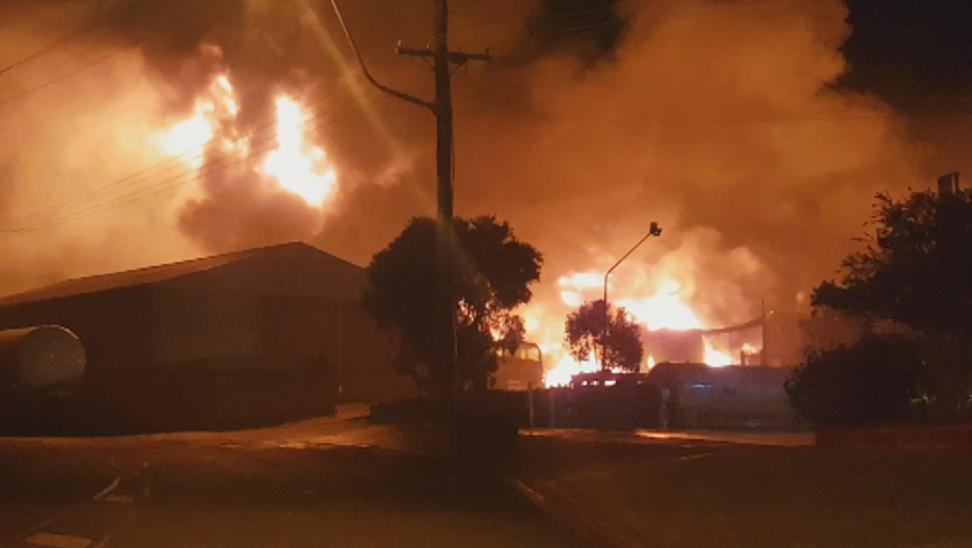 A large fire has erupted at Drysdale, which required the evacuation of dozens of homes. Photo: Nigel Fox