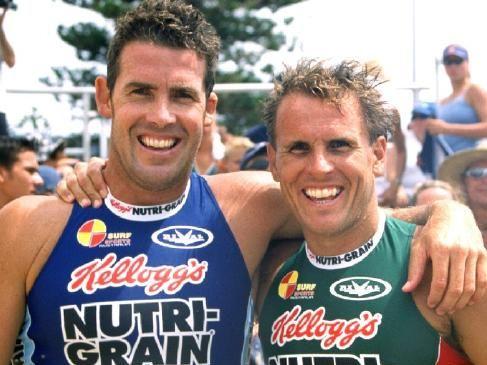 Dean Mercer (right) with brother Darren. Photo: Harvie Allison