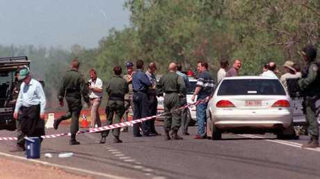 The crime scene where Sgt Glen Huitson was gunned down by Rod Ansell.