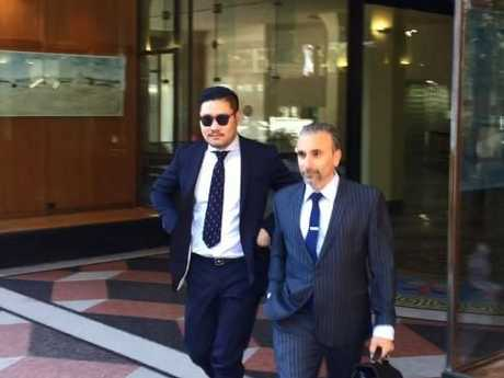David Vu with his lawyer Robert Daoud after appearing in court today.