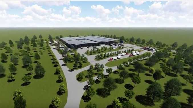 A concept vision of the new $14 million Casino saleyards complex.