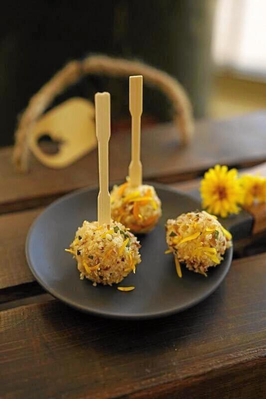Calendula cheese balls.
