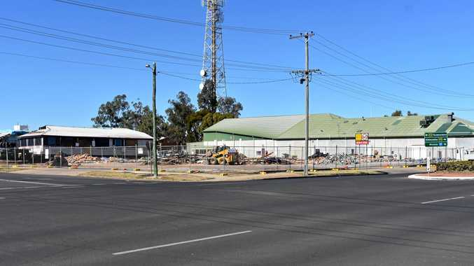 FLATTENED: The old Beaurepaires store and multiple houses have been torn down as Aldi begins to plan their Dalby move.