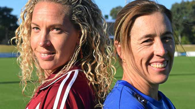 LEADERS OF THEIR PACKS: Boambee captain Krista Paunovic and Woolgoolga captain-coach Kim Batty ahead of the Women's 1st Division grand final.