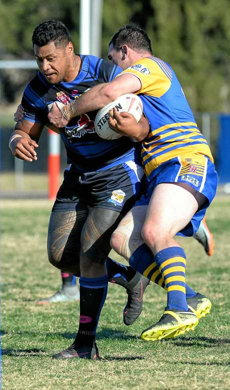 Rugby League Ipswich A-grade clash between Norths and Goodna at Keith Sternberg Oval on Sunday. Ramon Filipine.