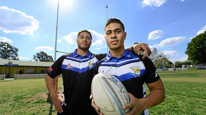 POWERFUL: Goodna brothers Max and Saunda Seumanutafa have ultimate trust in each other.