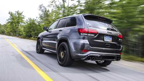 The Jeep Grand Cherokee Trackhawk will arrive in Australia during December.