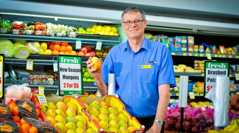 TASTY: Bruce Speare from NightOwl Gladstone has some of the first mangos of the season for sale.