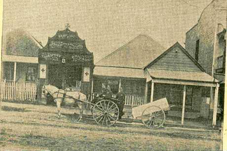 Ipswich ambulance station in 1902.