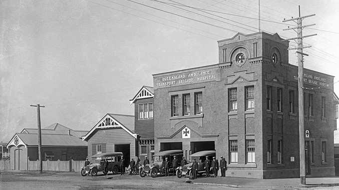 Ipswich ambulance station in 1925.