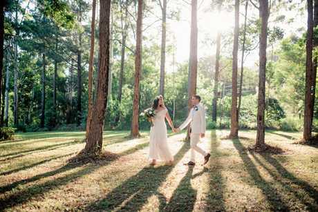 EVERYTHING HAPPENS FOR A REASON: Sarah Lemon has married Nick Pratt.