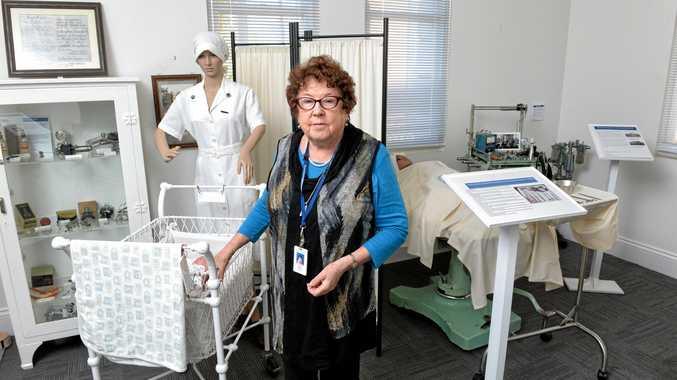 DISPLAY: Ipswich Hospital Museum volunteer Elizabeth McNalty.
