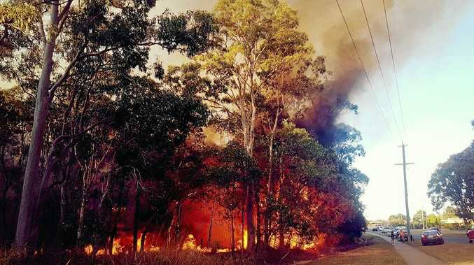 BRANYAN BLAZE: Zade Johnstone, Laura Taylor Allport and Li Lou captured these amazing images of the fire in Branyan on Thursday evening.
