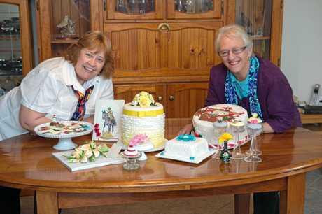 Coffs Coast cake decorators.Carol Williams and Elaine McInnes 19 AUG 2015 Photo Trevor Veale / Coffs Coast Advocate