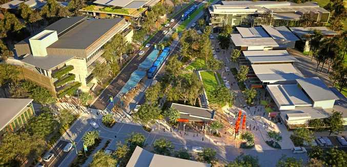 MOVING: A fresh artist's impression of the possible Sunshine Coast light rail network.