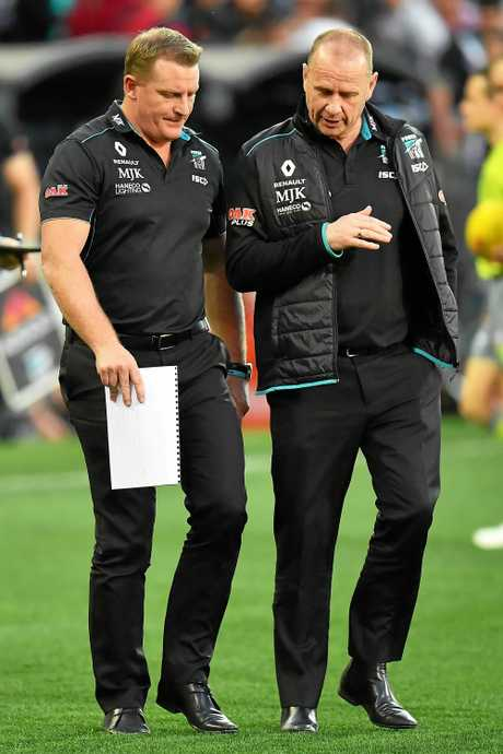 Power coaches Michael Voss (left) and Ken Hinkley.