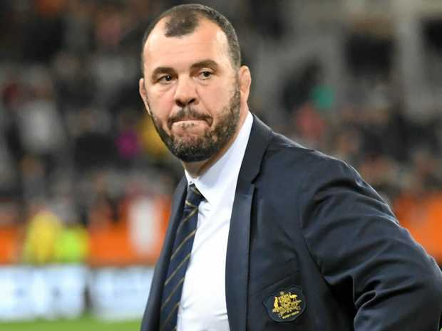 Wallabies coach Michael Cheika after his team's defeat to New Zealand in Dunedin.