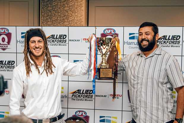 Whitsunday Sea Eagles and Mackay City Hawks Luke Sommerville and Owen Battersby.