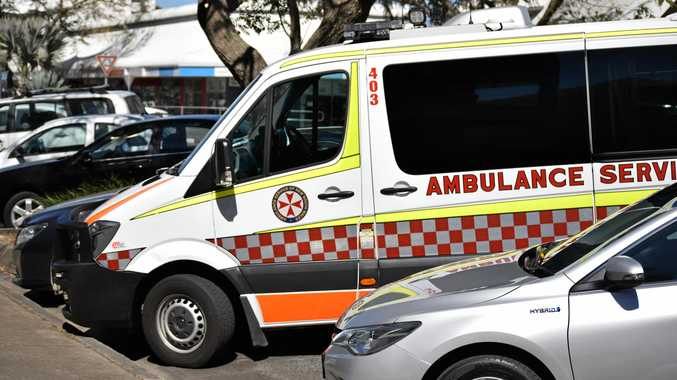 ON SCENE: NSW Ambulance paramedics treated a man in his 60s who suffered a cardiac arrest inside the Department of Housing in Coffs Harbour.