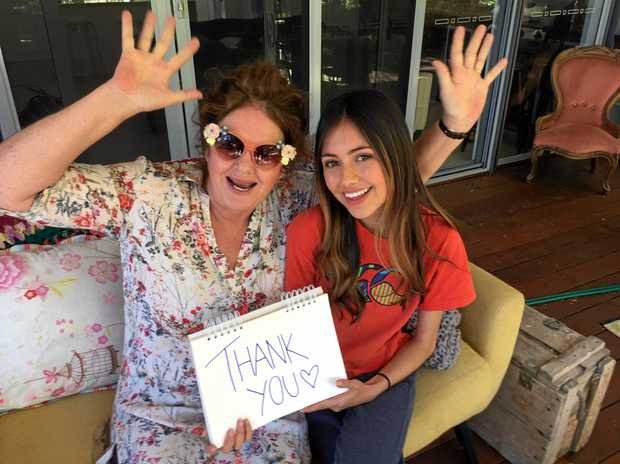 CELEBRATING: Brisbane mother and daughter Catherine and Rosie Tompson celebrate after being  given two tickets to see Elton John in Mackay this month.