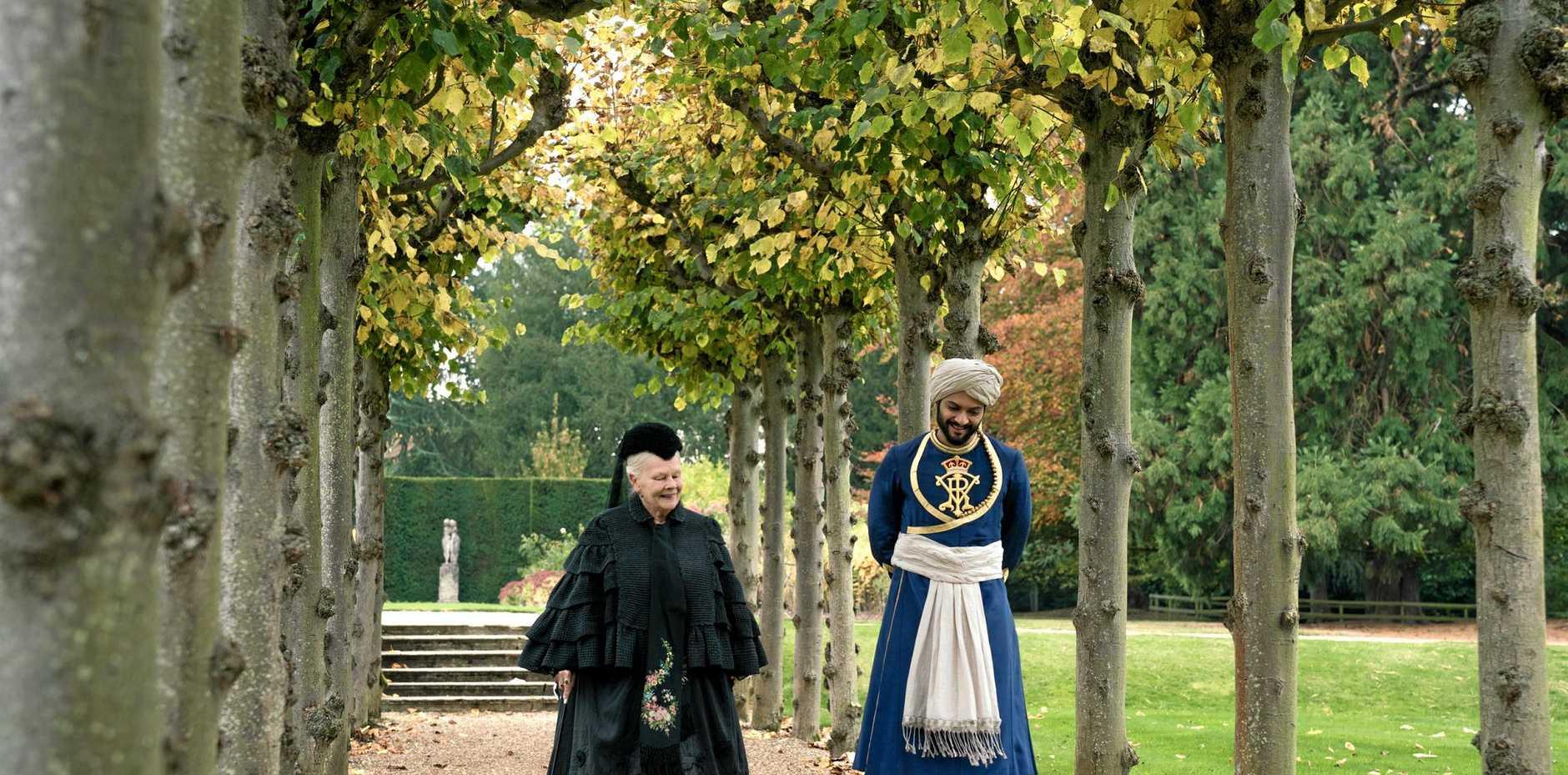 Judi Dench and Ali Fazal in a scene from Victoria and Abdul.
