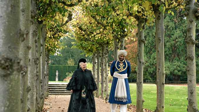 Judi Dench and Ali Fazal in a scene from Victoria and Abdul.