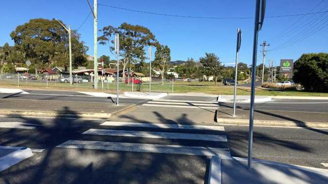 A new pedestrian crossing has been installed in Woolgoolga to replace the school crossing.