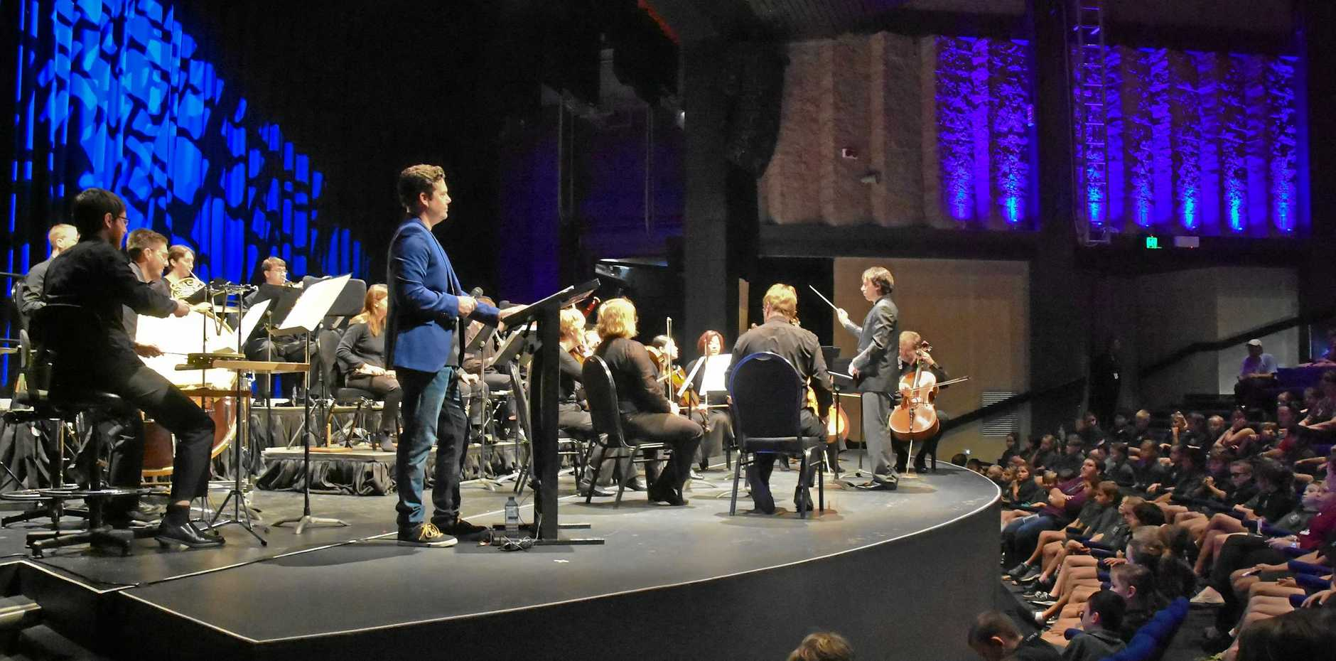 CLASSICAL MASTERPIECE: The Queensland Symphony Orchestra performed Peter and the Wolf to more than 600 students at the Gladstone Entertainment Convention Centre yesterday.