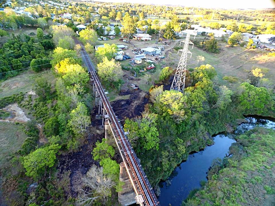 HISTORIC BRIDGE: Mary Valley Rattler Deep Creek bridge in Gympie.