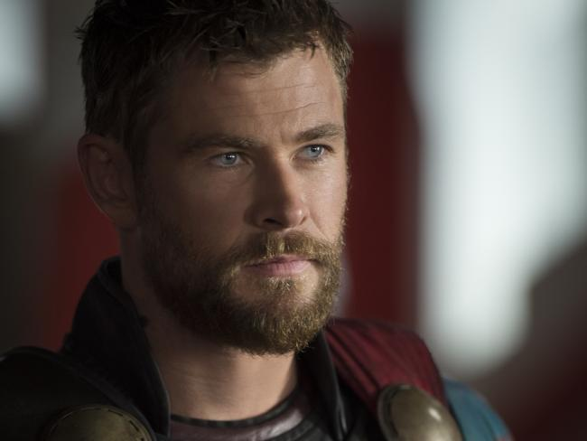 Thor after his haircut, looking a lot more like regular Chris Hemsworth. Photo: Jasin Boland / Marvel Studios
