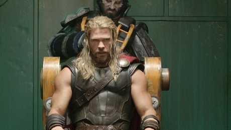 A scene from Thor: Ragnarok. Thor (Chris Hemsworth) is taken prisoner on Sakaar and will soon receive a hair cut. Picture: Marvel Studios