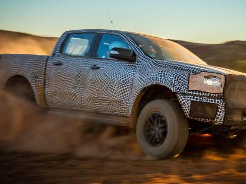 A camouflaged version of the 2018 Ford Ranger Raptor undergoing high speed off-road testing in Australia. Picture: Supplied.Source:Supplied