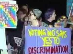 Same sex marriage protestors clash