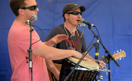 SPARGO BROTHERS: Tim Spargo and Ben Spargo at the Bundy Flavours festival. Photo: Mike Knott / NewsMail