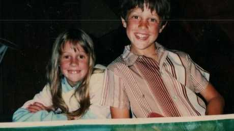 Connie and Sam Johnson as children. Picture: Love Your Sister/Facebook