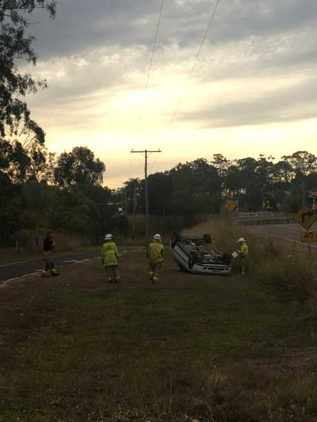 ON THE SCENE: Emergency services have made the scene of the crash safe.